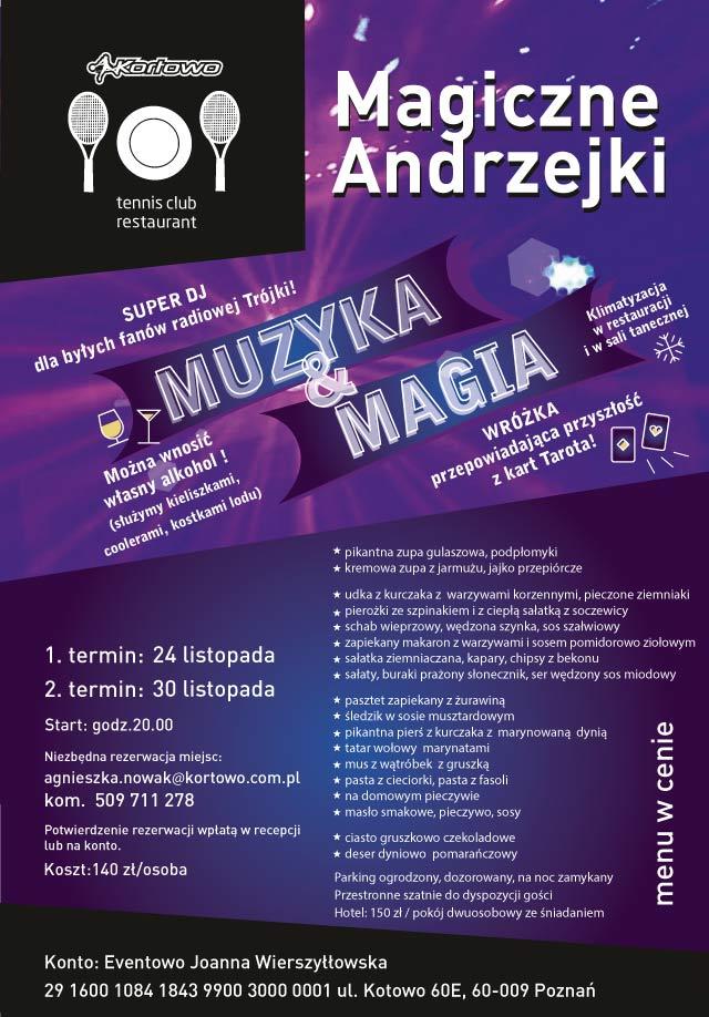 Magiczne Andrzejki - Muzyka & Magia - Kortowo
