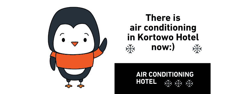 Hotel with air conditioning